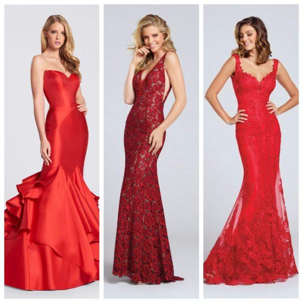 Красные вечерние платья фото