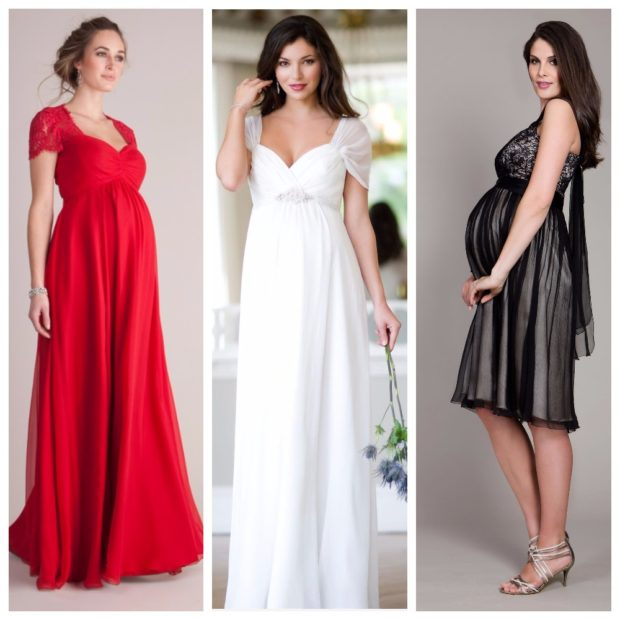 Вечерние платья фото для беременных