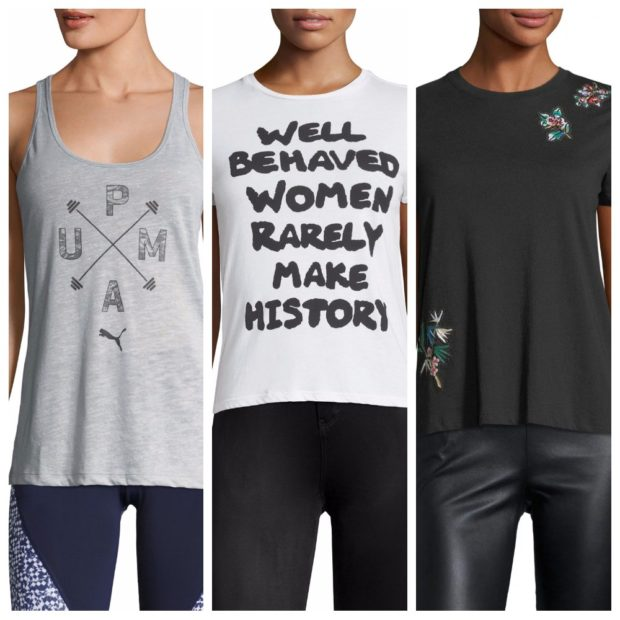 Модные принты и декор маек, футболок и топов весна-лето