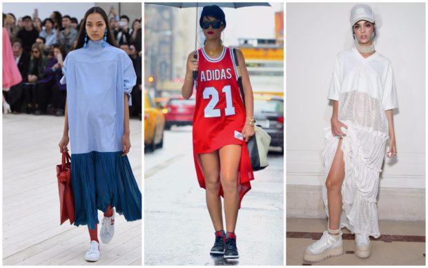 Модные спортивные платья весна лето