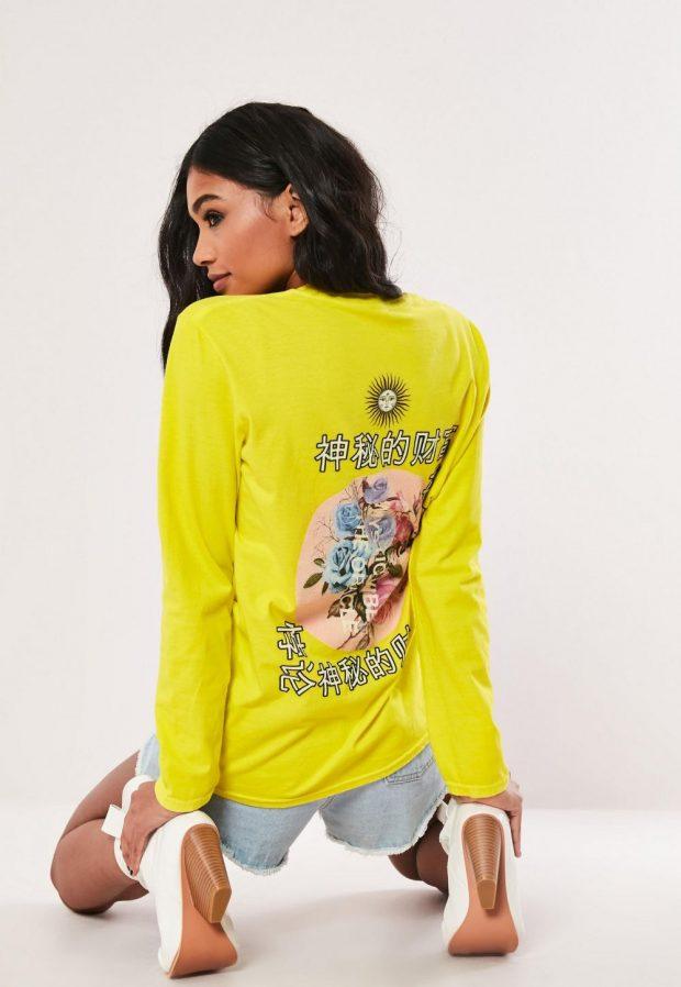 Модные футболки весна-лето 2019: салатовая