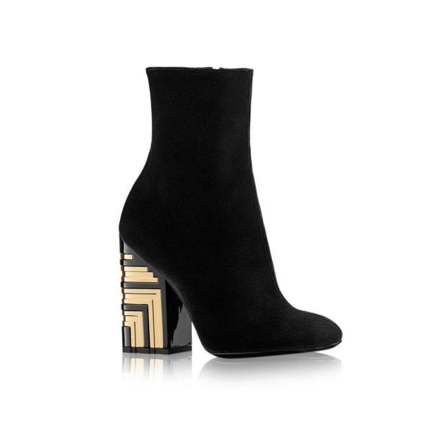 ботинки черные на квадратном каблуке