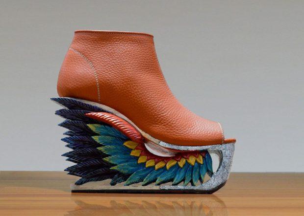 модные ботинки корневые на платформе