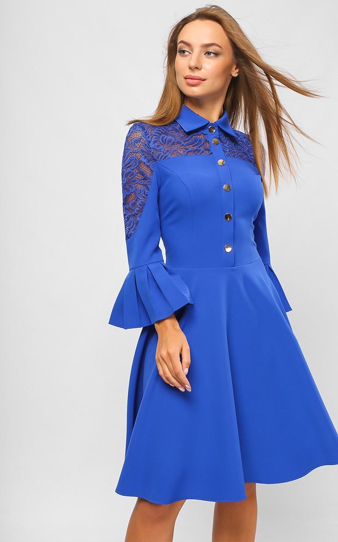 с чем сочетается синий цвет: платье лазурного цвета