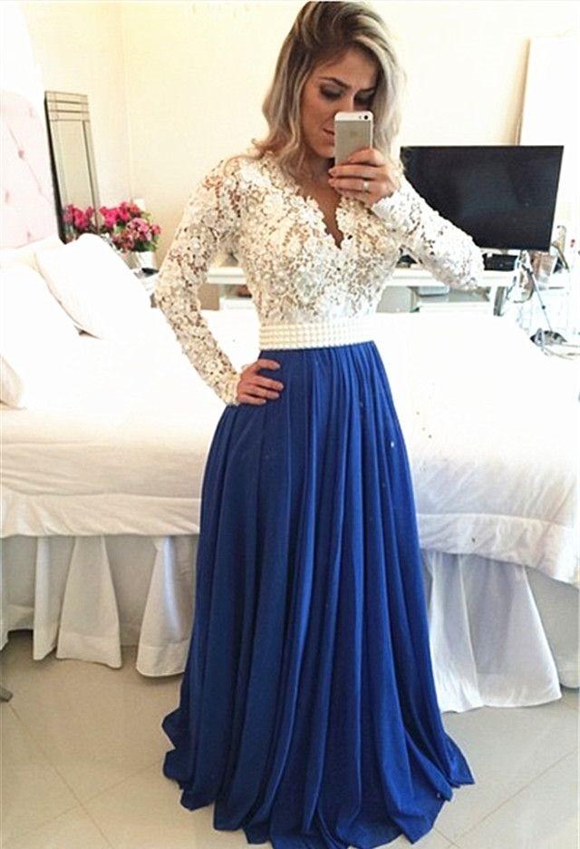 с чем сочетается синий цвет с белым юбка под блузку