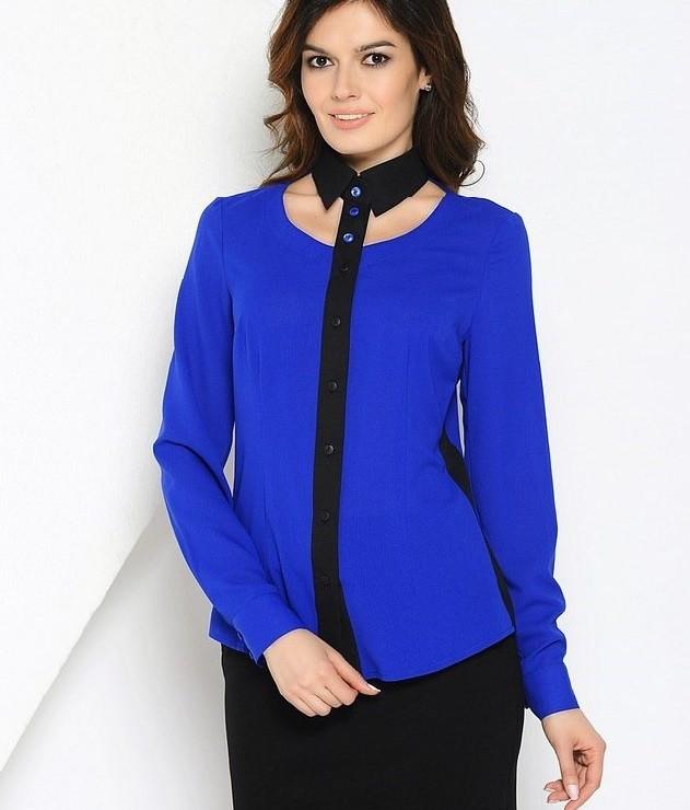 с чем носить синий цвет с черной юбкой