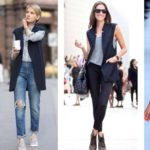 C чем носить удлиненный жилет без рукавов фото