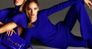 С чем сочетается синий цвет в одежде у женщин