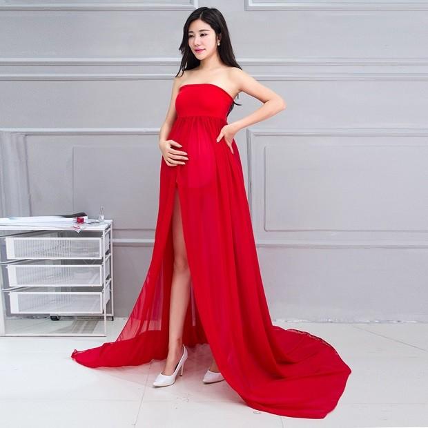 одежда для беременных: платье красное