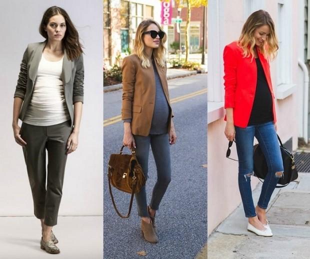 Модная одежда для беременных: костюмы женские