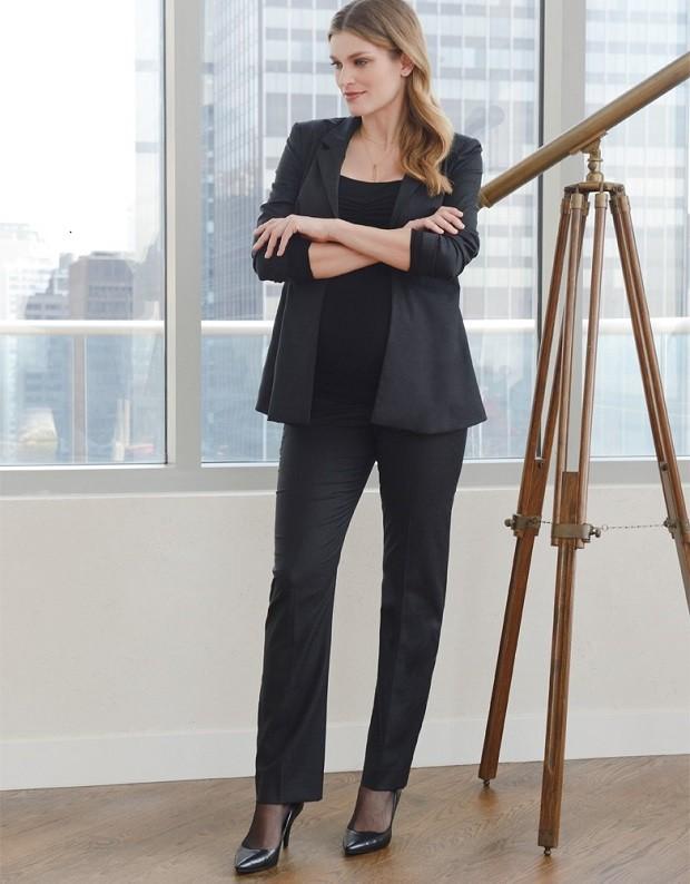 одежда для беременных: брюки черные