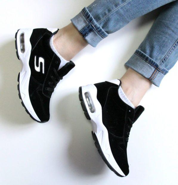 кроссовки 2018 черные женские белая подошва