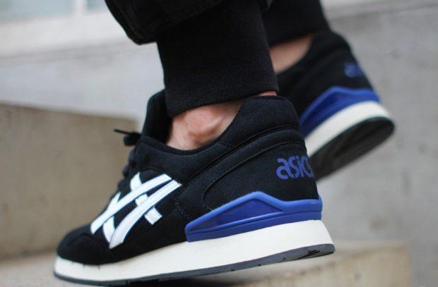 кроссовки унисекс черные с синим