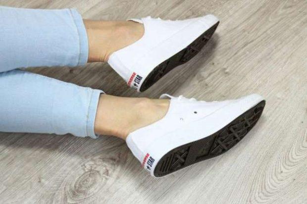 женские кроссовки кеды белые конверсы