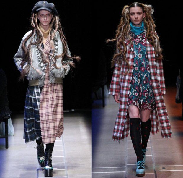 модные луки 2018-2019: кардиганы в клетку