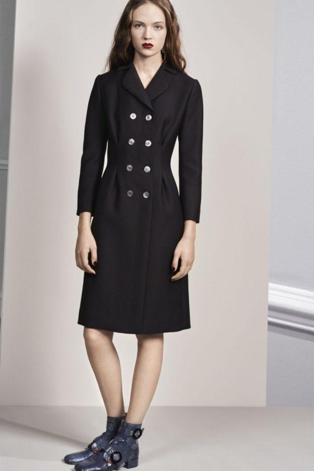 модные луки 2018-2019: пальто приталенное