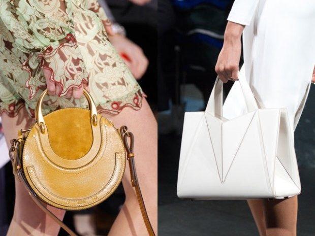 модный лук 2018-2019 женский фото: сумки разной формы