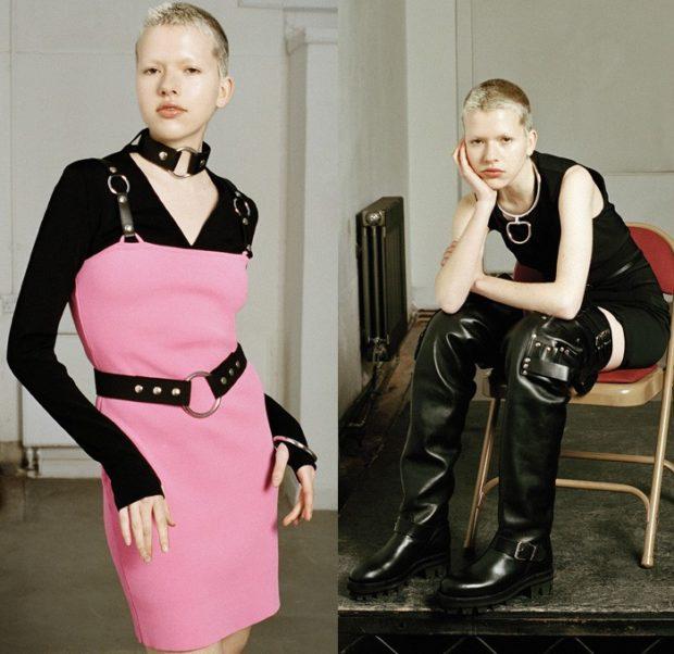 модный лук 2019-2020 женский фото: ремень черный