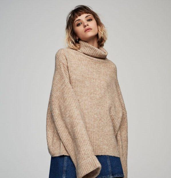 широкий свитер зимние луки