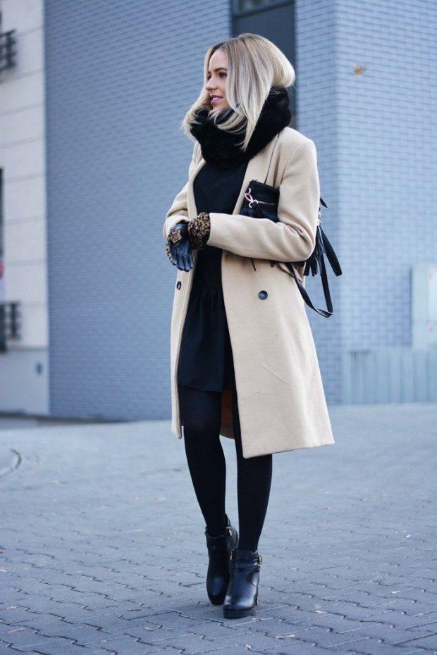 Луки зима 2019-2020 — пальто зимнее светлое