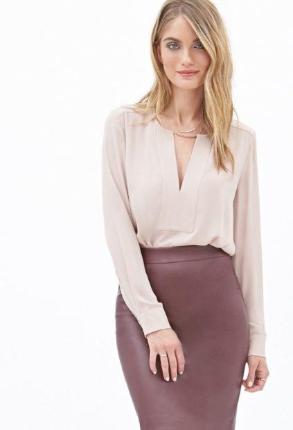 модные блузки из шифона 2018 бельевой стиль светлая