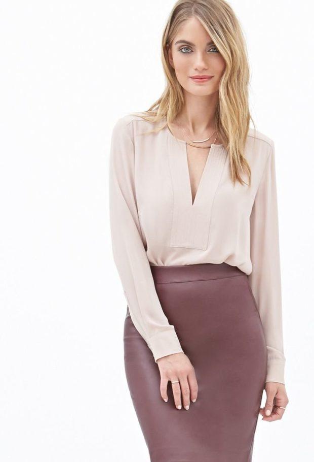 модные блузки из шифона бельевой стиль светлая