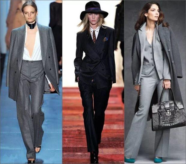 модные брюки 2018-2019 серные черные