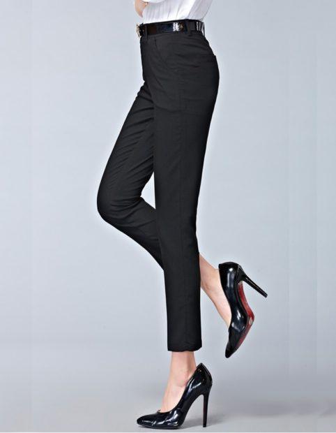 модные брюки 2018 2019 черные классические