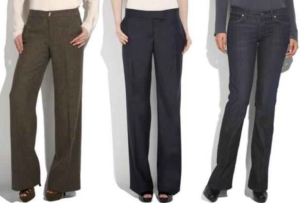 модные брюки 2018 офисные клеша