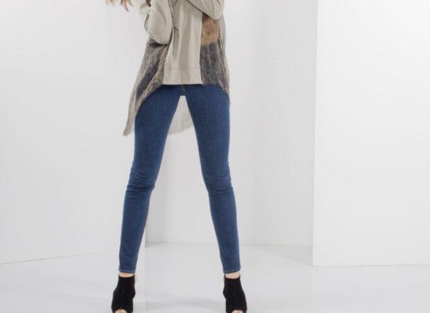 модные брюки 2018 скинни синие