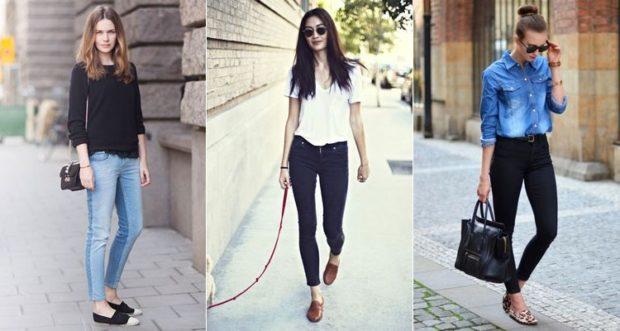 модные брюки 2018 скинни синие черные