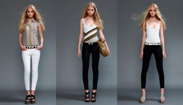 модные брюки 2018 короткие белые черные