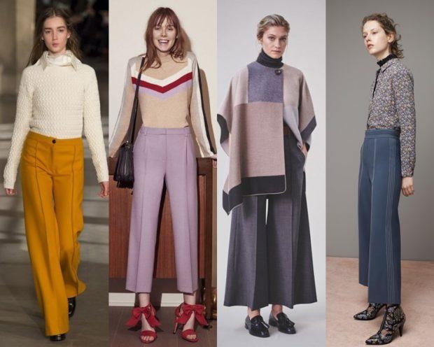 модные брюки 2018-2019 клеша укороченные
