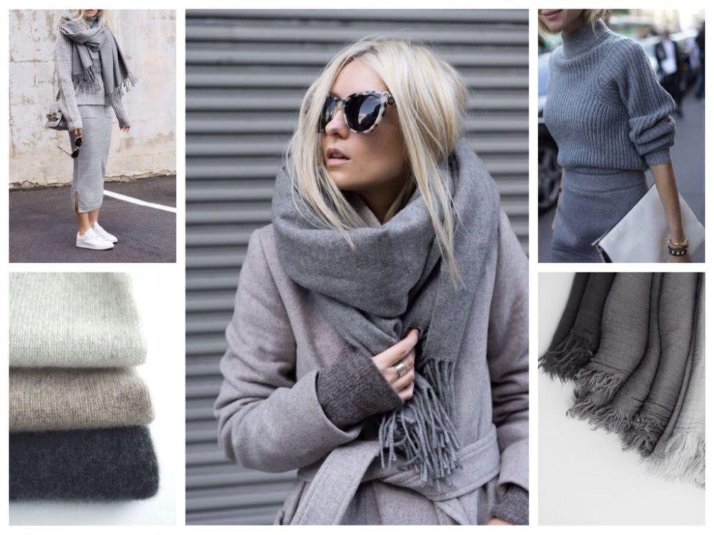 модные цвета осень зима 2018 2019 серый-металлик