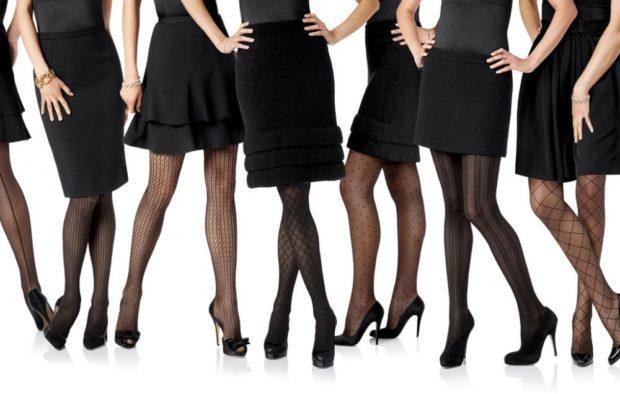 модны колготки 2019-2020 черные прозрачные в сетку матовые