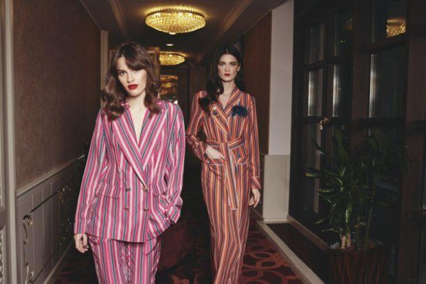 модные костюмы 2018 пижамные в полоску