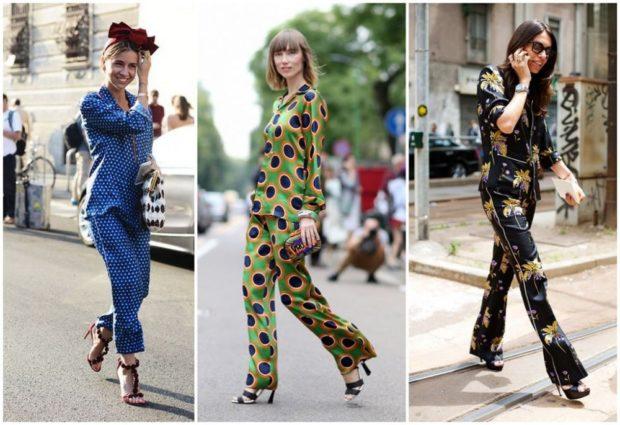 модные костюмы 2018 пижамные в орнамент