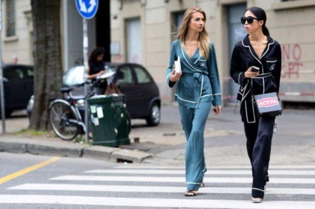 модные костюмы 2018 серый синий
