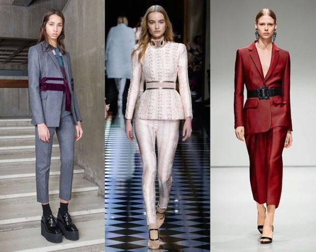 модные костюмы 2018 варианты с ремнем