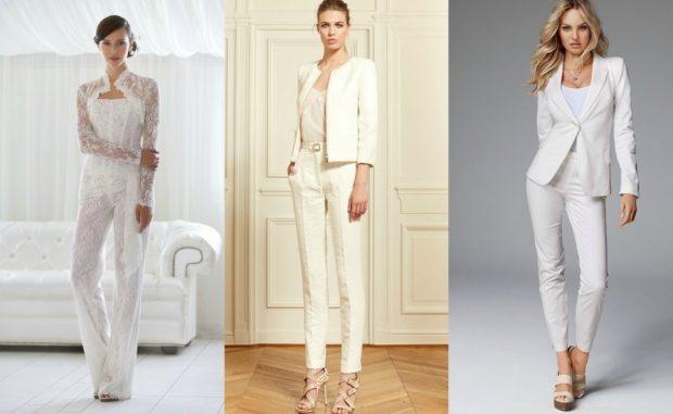модные костюмы 2018 белые с короткими брюками