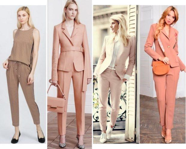модные костюмы 2018 светлые с короткими брюками