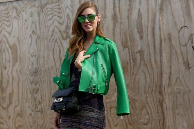 модные косухи 2019 2020: косуха зеленая