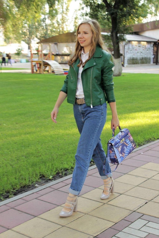 модные косухи 2018: косуха зеленая