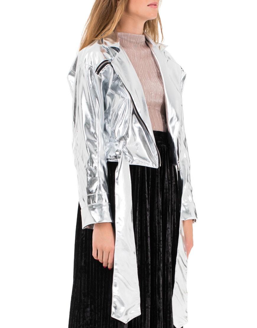 модные косухи 2018 косуха серебристая