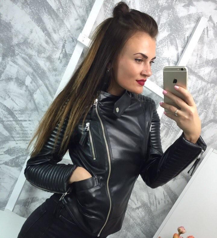 модные косухи 2018 черная