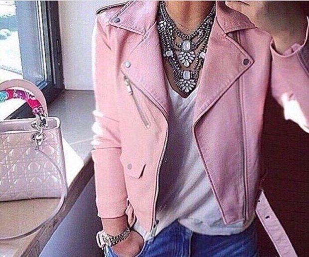 модная косуха 2020 розовая