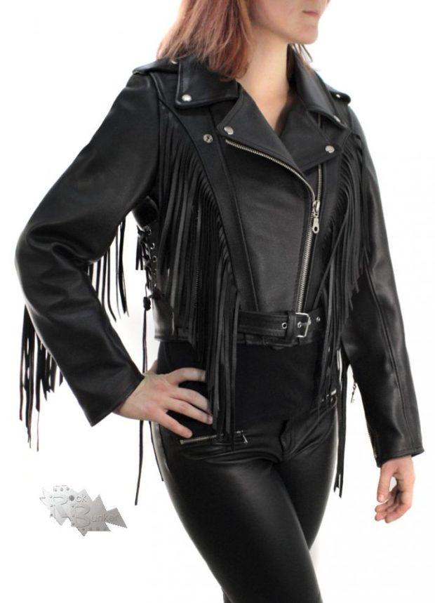 модные косухи 2019 2020 черная с бахромой