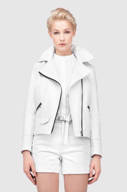 модные косухи 2018 белая