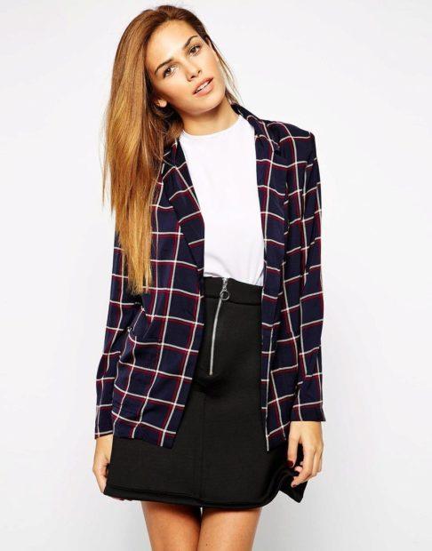 модные образы на 1 сентября 2018 пиджак в клетку