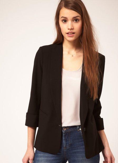 модные образы на 1 сентября 2018 пиджак черный